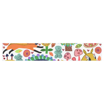 "Jane Smith ""Woodland Critters"" Colorful Cartoon Table Runner"