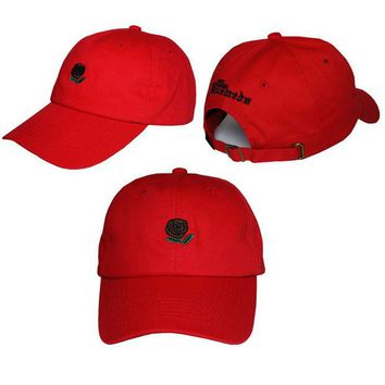 Day-First™ Red The Hundreds Rose Strap Cap Adjustable Golf Snapback Baseball Hat