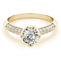 European Engagement Ring - - ERES107YG