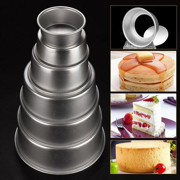 4/5/6/8/9/10inch Aluminum Alloy Nonstick Round Cake Pan Baking Mould with Removable Bottom DIY Baking Tools E2shopping