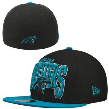 New Era Carolina Panthers 2 TB Fitted Hat - Black/Panther Blue