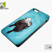 Romantic Swim Two Otterly iPhone 5s Case Cover by Avallen