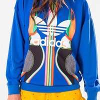 adidas Originals Farm Sweatshirt With Trefoil Logo With Pelican Print