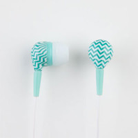 Audiology Chevron Earbuds Mint One Size For