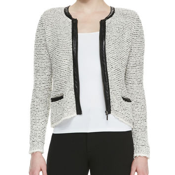 Jacolyn B Tweed Jacket, Size: