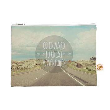 "Jillian Audrey ""Go Onward to Great Adventures"" Typography Everything Bag"