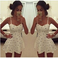 Sexy Women Summer Beach Lace Sleeveless Party Evening Cocktail Skater Mini Dress = 5738820865