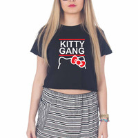 Hello Kitty Gang For Womens Crop Shirt ***