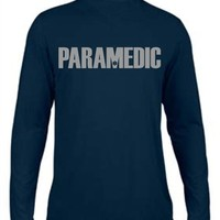 Moisture Wicking Paramedic Reflective Navy Long Sleeve