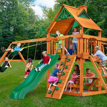 Gorilla Playsets Navigator Wooden Swing Set