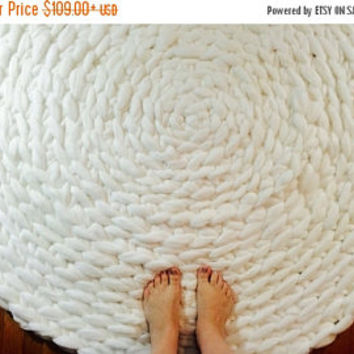 Chunky Rug, Chunky Knit carpet, Giant knit throw, Jumbo knit carpet, Merino wool, Chunky Floor Rug