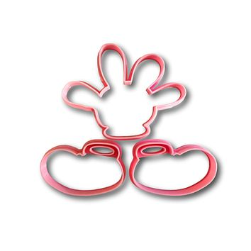 Mouse shoes and glove cookie cutters (set of 3)