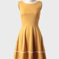 coquette indie dress in mustard by Fleet Collection at ShopRuche.com