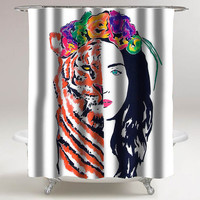 katy perry roar eye custom shower curtain decorative shower curtain size 36x72,48x72,60x72,66x72