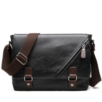 Men's Faux Leather  Messenger Business Bag
