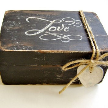 Personalized Ring Box /Wedding Ring Box / Ring Bearer Box / / Unique Ring Box / Love