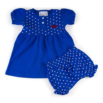 Southern Methodist Girl's Heart Dress with Bloomers