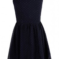 Lily Boutique Cute Navy Pearl Embellished Dress, Navy Pearl Bridesmaid Dress, Pearl Navy Cutout Juniors Dress, Jessica Pearl Embellished Cutout Dress in Navy Lily Boutique