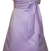 50s Style Satin Prom Dress With Bow