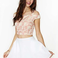 Amora Brocade Crop Top