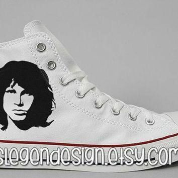 DCCK1IN the doors painted shoes jim morrison custom converse