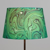 Green Malachite Linen Accent Lamp Shade