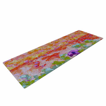 """Jeff Ferst """"Earthly Delights"""" Floral Abstract Yoga Mat"""