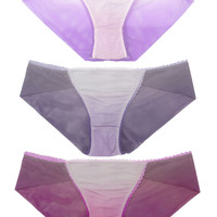 Ombré Brief Gift Set (Three Panties) - Purples ✨SOLD OUT✨