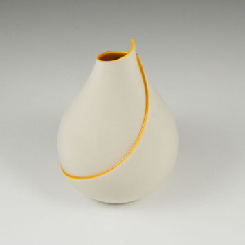 SALE Curvy Vase in Orange- second