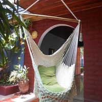 Hanging Chair, T shaped (with extra frontal embroidery Macrame)