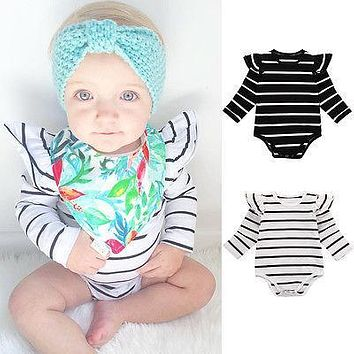 striped new autumn spirng new toddler children clothes Newborn Kids Baby boy Girl Long Sleeve Romper Jumpsuit Outfit 0-18M