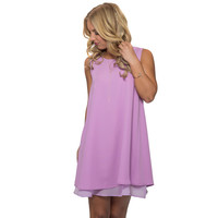 Lean On Me Dress In Lilac