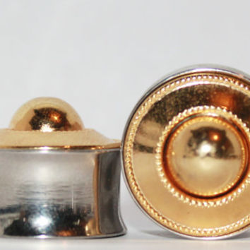 "Classic Gold Plugs 3/4  Inch 19mm 3/4"" One of A Kind"