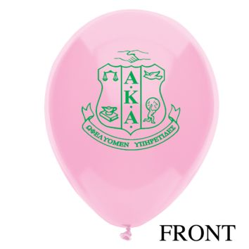 "12"" Alpha Kappa Alpha Sorority Latex Balloons"