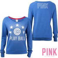 Chicago Cubs Victoria's Secret PINK® Raw Neck Raglan Sweatshirt - MLB.com Shop