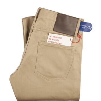 UB307 Straight Fit Beige Chino Selvedge - Old Fit