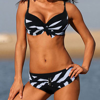 Free shipping Sexy New black white Classic stripe bikini SWIMSUIT SWIMWEAR size M L XL shipping within 24hs