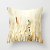 Art Throw Pillow Cover Bright Bird photo Indoor Outdoor Pillow Covers yellow tones ethereal light photography shabby cottage chic home decor