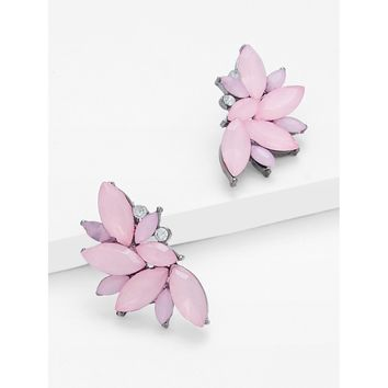 Lotus Flower Statement Earrings