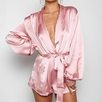 Julie peach pink playsuit