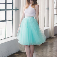 The Wendy - Mint Tulle Skirt | Space 46