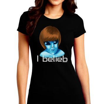 Extraterrestial - I Belieb Juniors Crew Dark T-Shirt by TooLoud