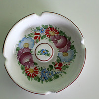 Fantastic Ashtray, Ceramic Ashtray, Floral Design, Table Decor