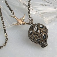 Filigree Hot Air Balloon Pendant Necklace by TrashAndTrinkets