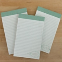 Gold Geometry Notepad - green