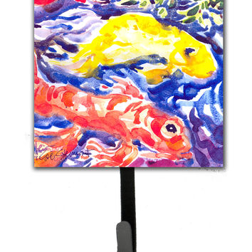 Fish - Koi in the pond Leash Holder or Key Hook