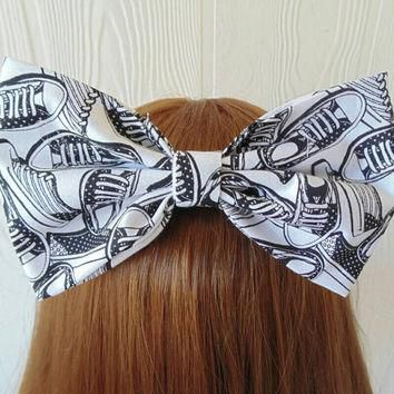 Sneakers hair bow/ converse fabric hair Bow / Pinup / shoe hairbow / converse shoes ha
