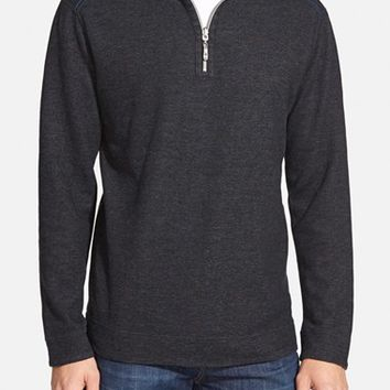 Men's Tommy Bahama 'Flip Out' Reversible Half Zip Pullover,