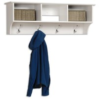White Entryway Cubbie Shelf