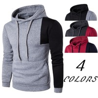 Patchwork Hoodies Winter Men Slim Stylish Simple Design Men's Fashion Hats [10669404867]